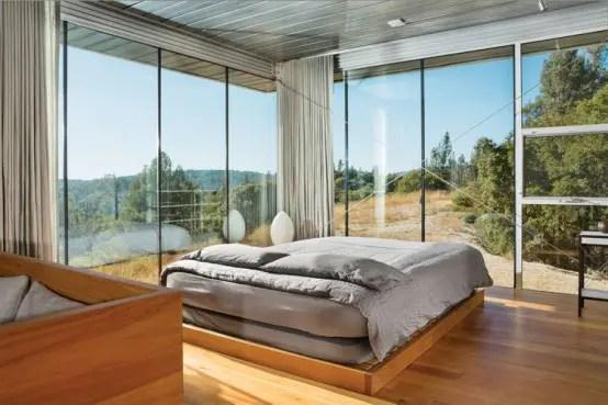 3d Wallpaper For Master Bedroom 25 Daring Glass Bedroom Design Ideas Digsdigs