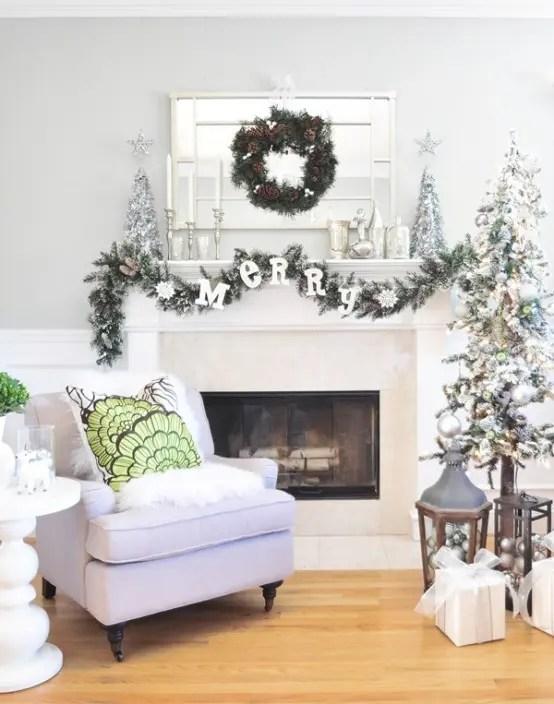 55 Dreamy Christmas Living Room Décor Ideas - DigsDigs - christmas fireplace decor