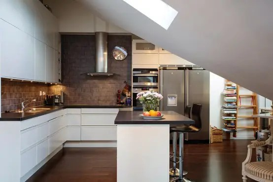 Elegant And Timeless Kitchen Design In Chocolate And White - DigsDigs - timeless kitchen design
