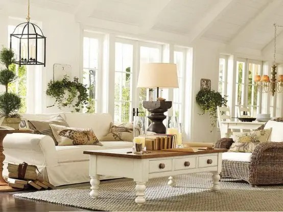 25 Farmhouse Sunrooms You Will Never Want to Leave - DigsDigs - farmhouse living room furniture