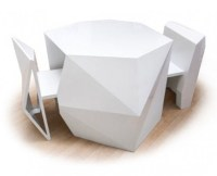 Futuristic Table And Chairs To Hide In It - DigsDigs