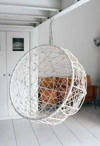 Hanging Metal Hemisphere Chair For Your Garden - DigsDigs