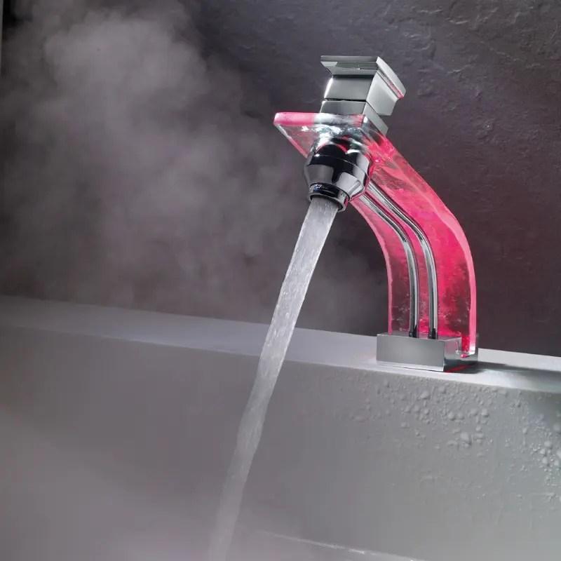 Futuristic LED Bathroom Faucets by Marti