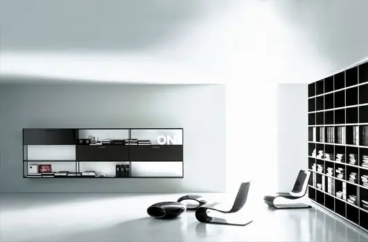 Cool Black Wallpaper Minimalist Furniture For Home Office Digsdigs