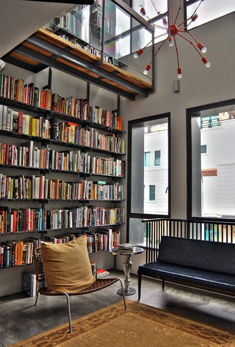 27 Modern Home Library Designs That Stand Out - DigsDigs - home library design