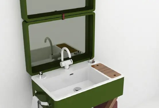 My Bag Washbasin That Turns Into A Portable Case Digsdigs