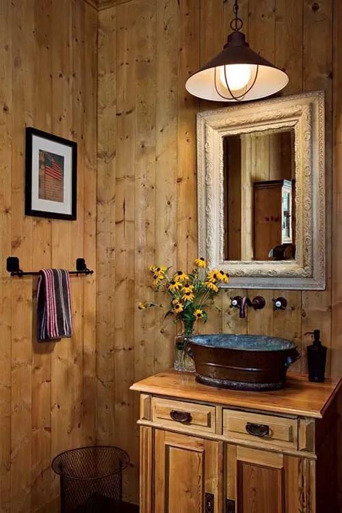 Country Cabin Bathroom Ideas - small rustic bathroom ideas