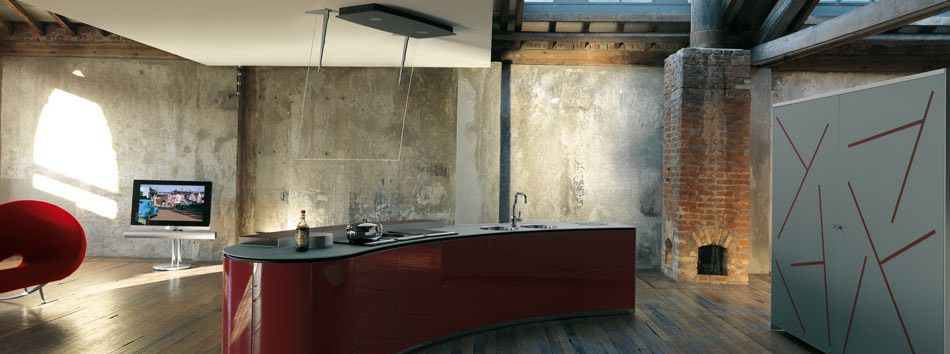Modern Rustic Kitchen by Alessi - DigsDigs - rustic modern kitchen