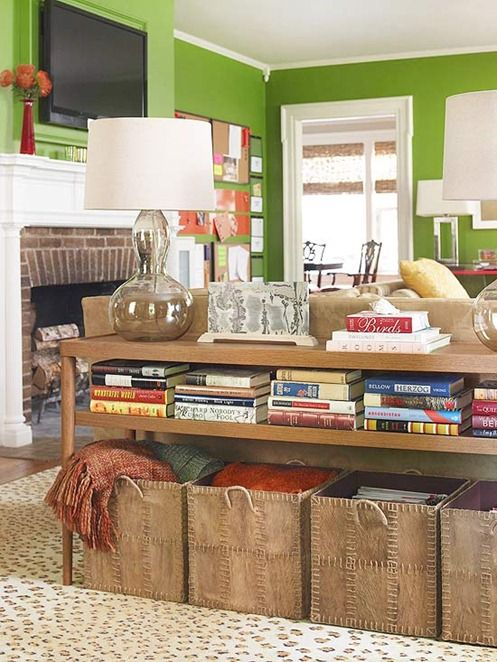 60 Simple But Smart Living Room Storage Ideas - DigsDigs - living room blanket storage