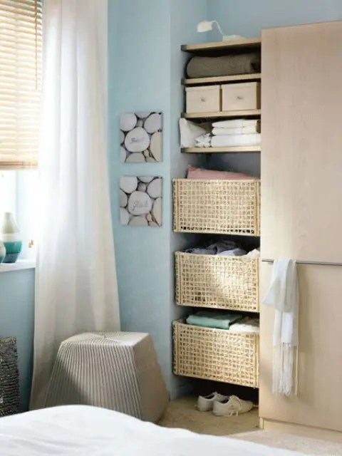 57 Smart Bedroom Storage Ideas - DigsDigs - small bedroom organization ideas