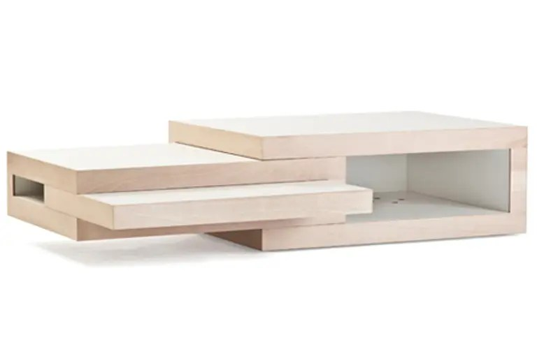 Transformable Minimalist Coffee Table That Grows If You