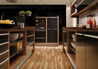Glossy Lacquer with Natural Wood Kitchen Design - Vitrea ...