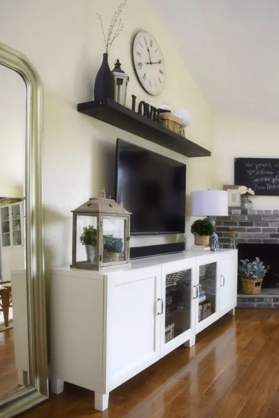 45 Ways To Use IKEA Besta Units In Home Décor - DigsDigs - living room shelf unit
