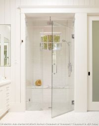 Curbless Neo Angle Shower for Traditional Bathroom and ...