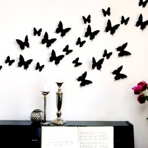 Curvy wings with down line Butterfly's for Home Wall Decoration