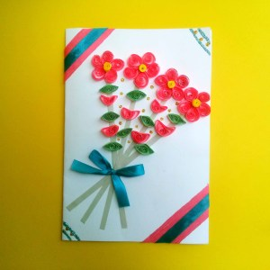 Flowers Quilling Card