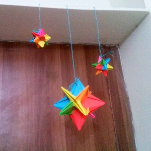 Origami Omega Star for Decoration