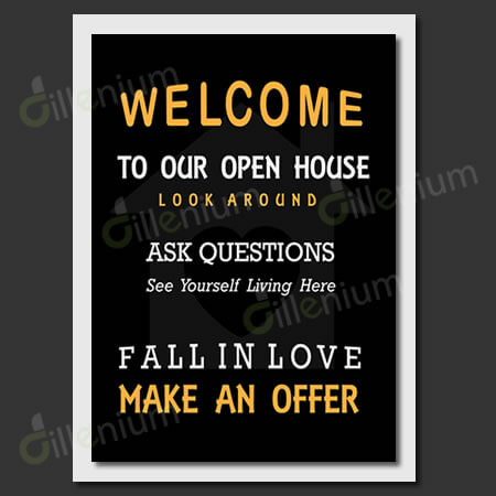 Printable Realtor Open House Flyer 11x14 inches Instant Download - open house flyer