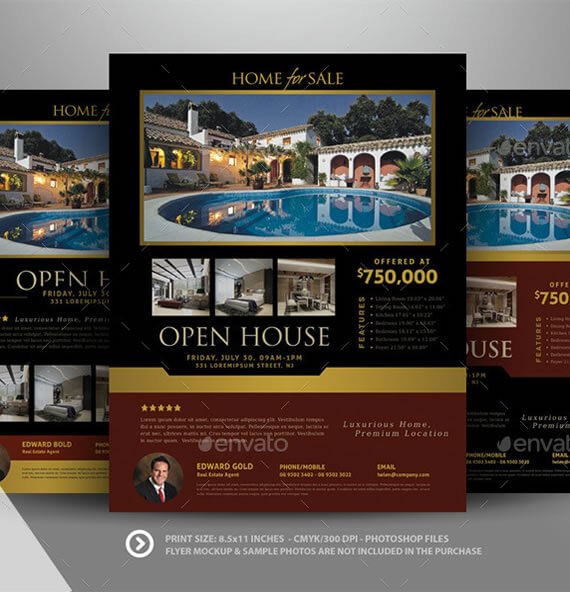 Open House Flyer Template real estate open house flyer template – Open House Flyers