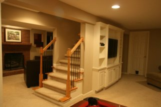 Basement, renovated.