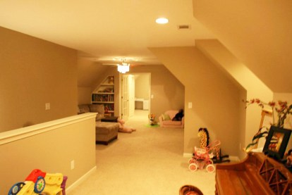 new upstairs rec room, bedroom and beyond.