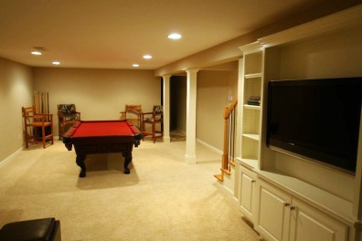 Renovated basement.