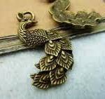 bronze-peacock-charm
