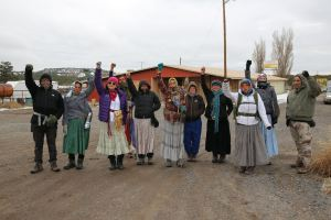 Nihigaal Bee Iina, Our Journey for Our Existence, prepares to begin its journey from the Dził NáhodiłI Fire Department on Jan. 6, 2015. The journey is a 200 mile prayer walk to Tsoodzil (Mt. Taylor). The journey will honor the 150 years of existence as Dine since Hwééldii, The Long Walk of the Diné People to Ft. Sumner, NM. This will be the Inaugural walk of several to take place throughout the Navajo Nation in 2015.  Words and photo courtesy of Nihigaal Bee Iina.
