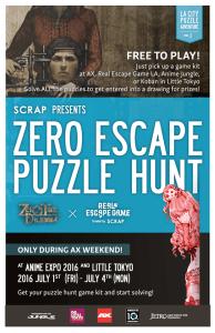 Zero Escape Puzzle Hunt