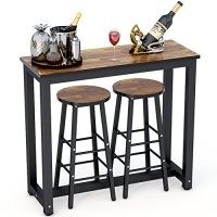 Tribesigns 3-Piece Pub Table Set, Counter Height Dining ...