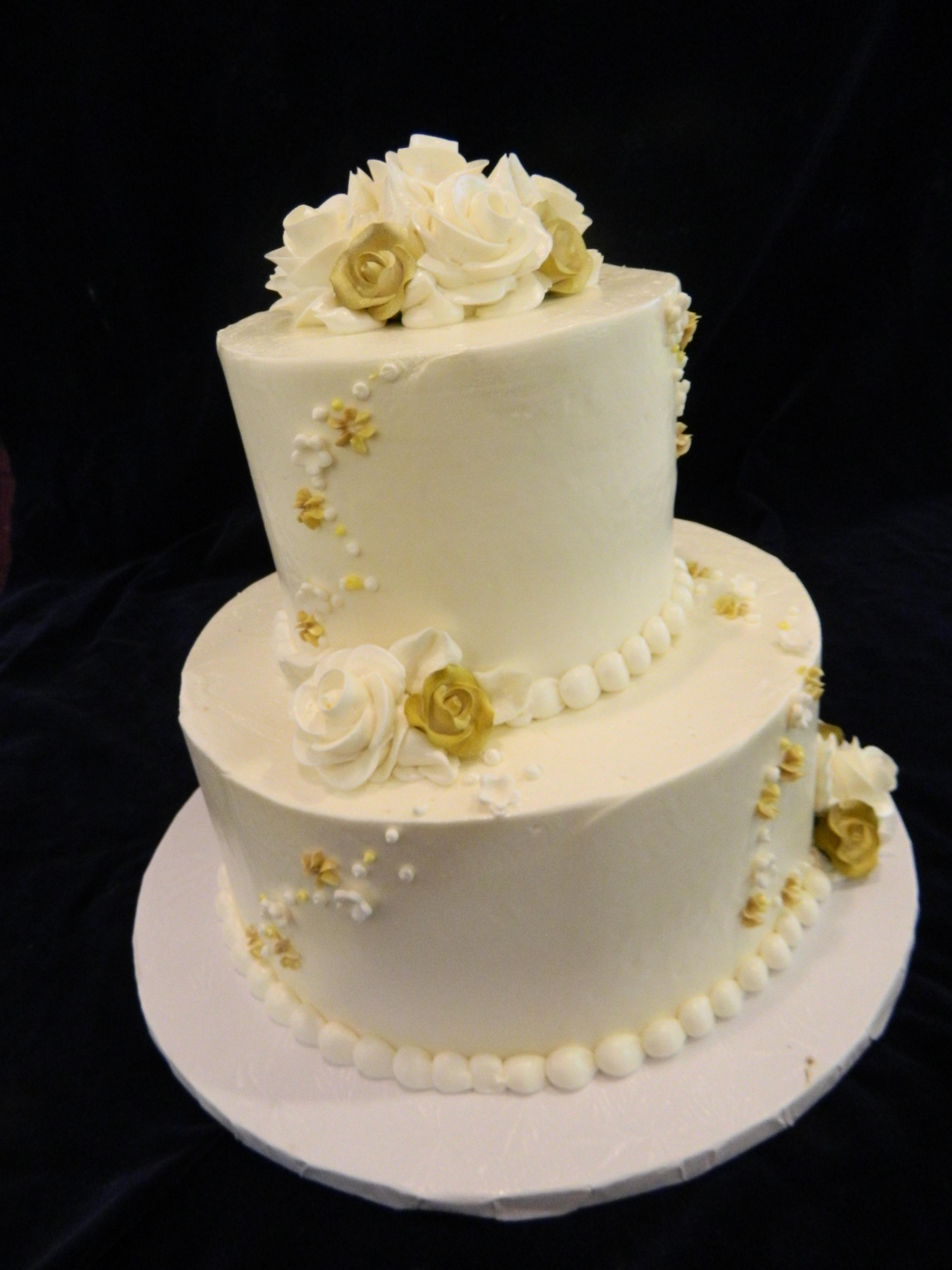 Fullsize Of Two Tier Wedding Cake