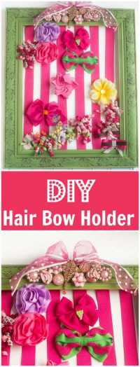 DIY Hair Bow Holder Tutorial - Dinner at the Zoo