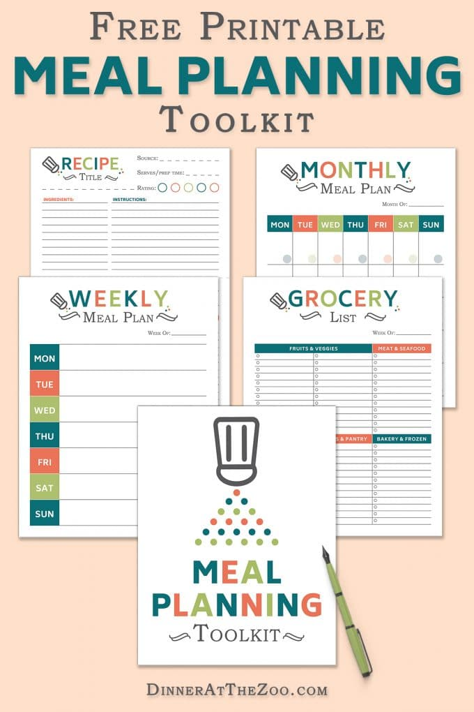 Free Meal Planning Tool Kit Download - Dinner at the Zoo