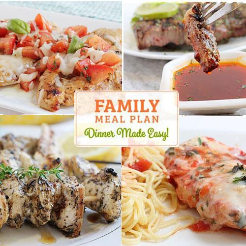 Sample Dinner Menu - Weekly Dinner Menu Ideas and 5 Day Meal Planner