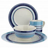 Blue Stripe Dinnerware & Denby Intro Stripes 16 Piece ...