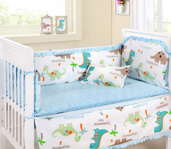 Girl Nursery With Wallpaper Dinosaur Crib Bedding Dinosaurs Pictures And Facts