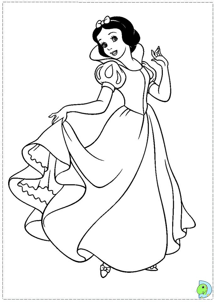 wwwdinokidsorg a003-coloring-disney Snow_White-ColoringPage - new disney coloring pages free to print