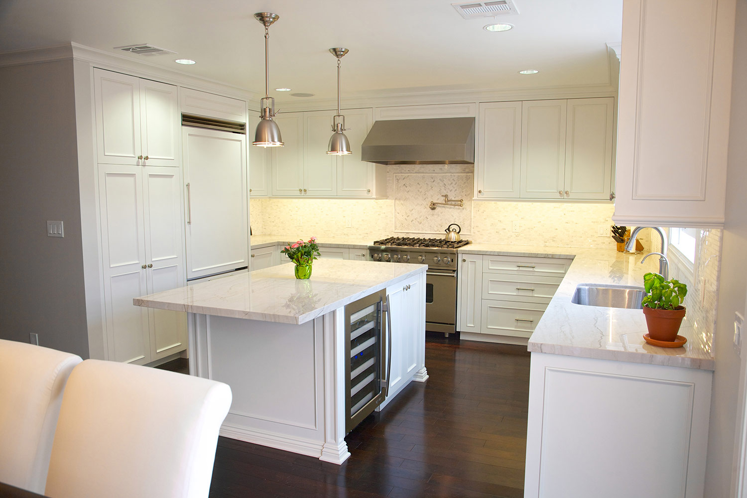 Under Cabinet Lighting With Custom Fixtures Diode Led