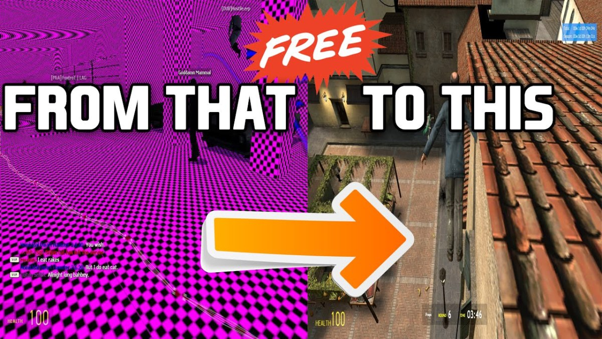 How to fix texture problems (pink squares) on Garry's Mod