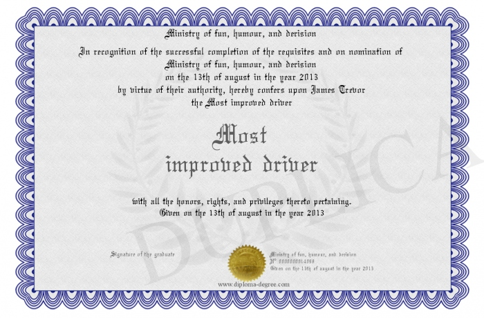 most improved award certificate