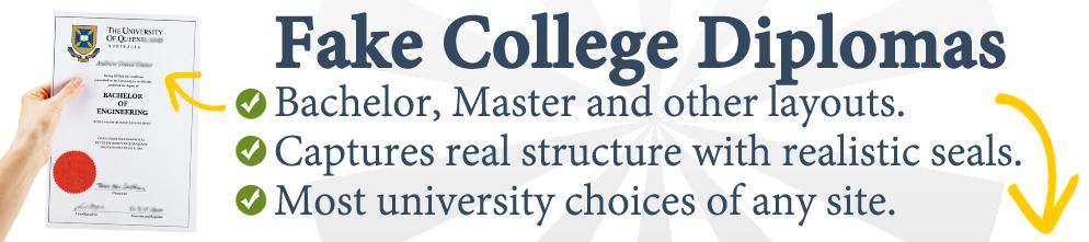Fake College Diplomas - Best University Replicas! Free Proofs