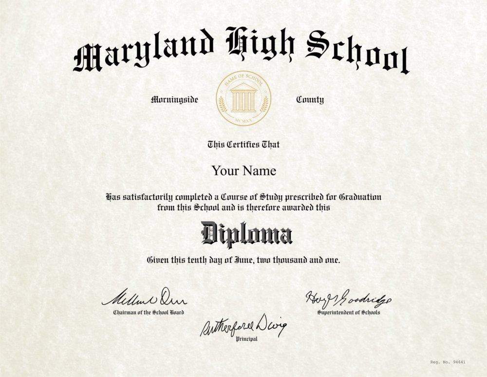 Fake High School Diploma 4 - Diploma Outlet