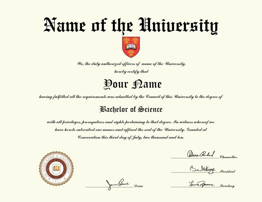 Fake Canadian University Diploma 2 - Diploma Outlet