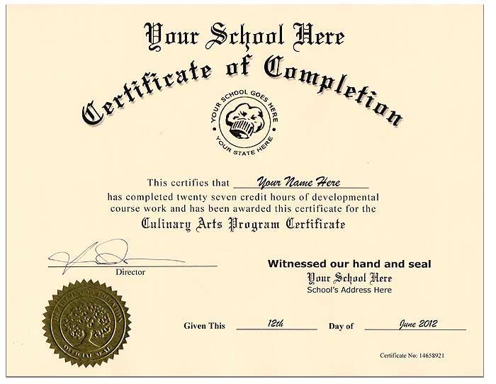 Fake Culinary Certificate Fake Culinary Certificate Culinary