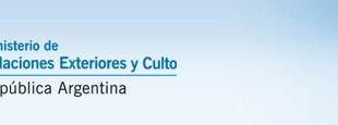 Ministerio de Relaciones Exteriores y Culto de la República Argentina.