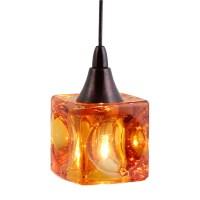 Mini Cube Shaped Pendant Lighting DPNL-35-6-AMBER Direct ...