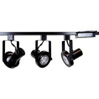 Rear Loading Gimbal Ring LED Track Lighting Kit Black ...