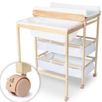 Table  langer pratique avec baignoire et rangement