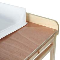 Meuble  langer avec baignoire et casier rangement