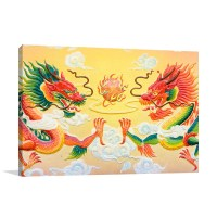 Chinese Dragon Wall Art Print In Modern Wall Painting